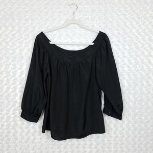 Anthropologie Maeve Black Blouse